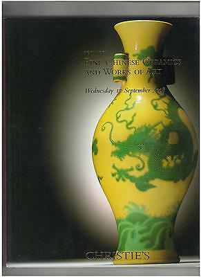 Christie's Catalog, Fine Chinese Ceramics & WOA, New York, Sep. 2008
