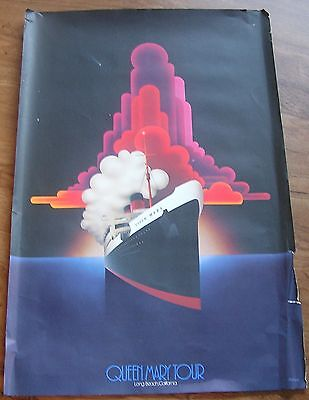 """Rms Queen Mary Large Poster, Print Cunard Line 24"""" X 36"""" From The Museum Tour"""