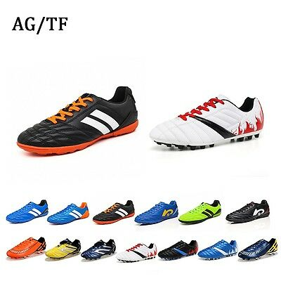 Men's Boys Turf Cleats AG/TF Soccer Athletic Football Outdoor/Indoor Sport Shoes