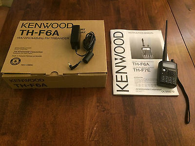 Kenwood TH F6A Tri-Band Radio Transceiver, barely used, excellent condition