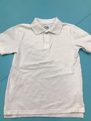 Boys White Children's Place Polo Size 7/8 M EUC