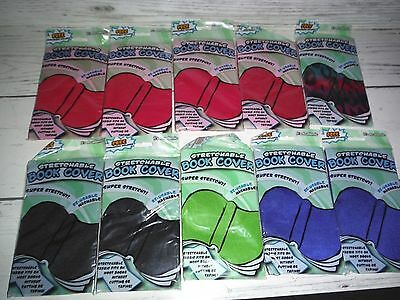 Lot of 10 New It's Academic Stretchable Book Covers Assorted