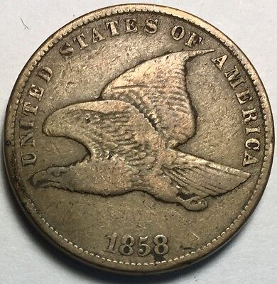 Beautiful 1858 1C Small Letters Flying Eagle Cent