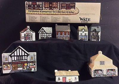 Wade England 1980's Porcelain Miniature Village Whimsey On Why Set #4