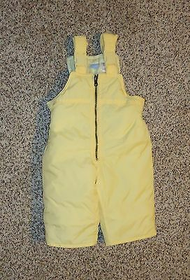 Disney Baby Girls Boys Pale Yellow Snow Pants Bib Overalls Size 6-9 Months