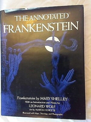 1977 The Annotated FRANKENSTEIN by Leonard Wolf HARDCOVER Shelley book