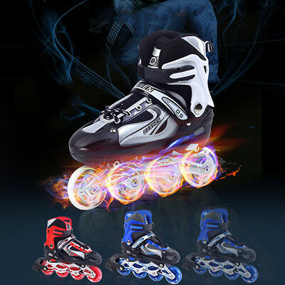 [NEW] 1Color&Size Only Unisex Adjustable Four Flashing Wheels Skates Shoes Wear-