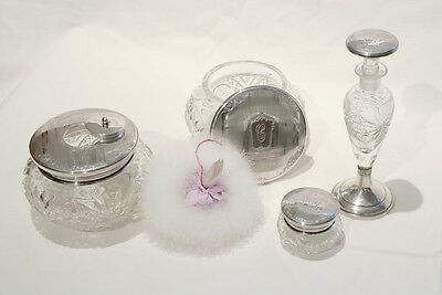 BIRKS STERLING 19pc VANITY SET: JARS MIRRORS BRUSHES CISSORS ETC : EXCEPTIONNAL