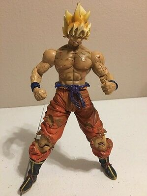 "DBZ Dragon Ball Z IF Labs Movie Collection Battle Damaged S.S. Goku 9"" figure"