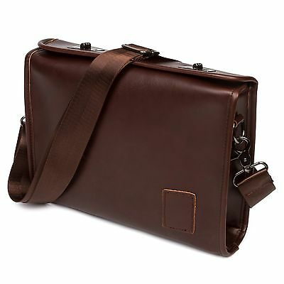 Men's Crazy Horse PU Leather Briefcase Satchel Shoulder Bag Business Handbag US
