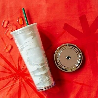 Starbucks 2014 Red Dot 24oz Frozen  Acrylic Cold Cup NWT!!!