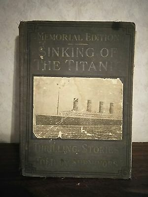 """Antique book """"Sinking of the Titanic"""" Memorial edition 1912, vintage, history"""