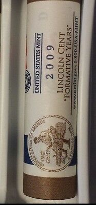 2009 D Bicentennial Lincoln Cent Penny Mint Wrapped Rolls FORMATIVE YEARS LP2