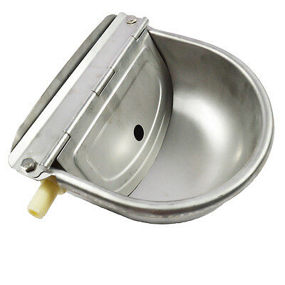 1 pc Automatic Water Trough Stainless Bowl For Draught Animals