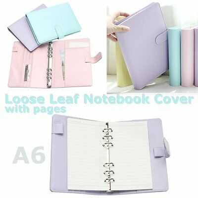 A6 Planner Agenda Synthetic Leather Loose Leaf Diary Weekly Notebook + 40 Sheets