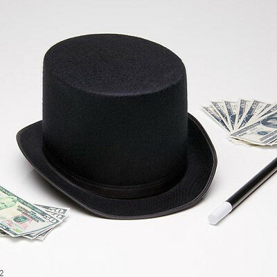 Men Women Magician Hat Black Top Hat Fedoras Hat Halloween Party Costume