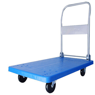 Heavy Duty Platform Truck Cart Hand Trolley Flat Bed Warehouse 770Lbs