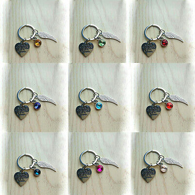 Piece of My Heart in Heaven Memorial Key Chain Ring Wing Sympathy Gift Reliable