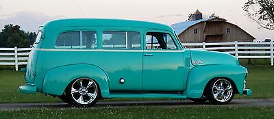 1955 Chevrolet Bel Air/150/210 SURBURAN 1955 CHEVY SUBURBAN  RESTO-MOD  all new 55,56,58(COLD A/C) hot rod