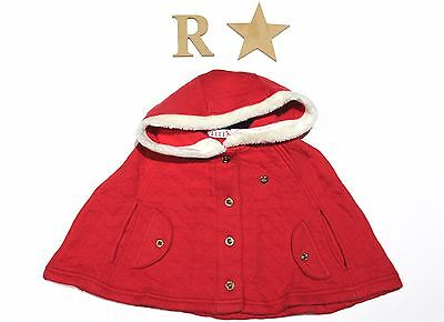 ELLE Toddler girl red manteau-warm hood-baby fancy clothes-quality-winter