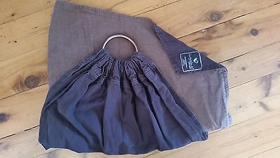 Hug A Bub Ring Sling Baby Carrier Traditional Style in Black Brown Earthy Tones