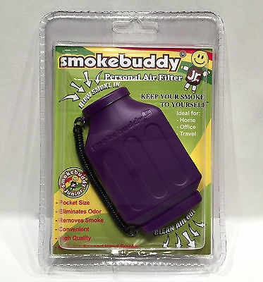 1X Smoke Buddy Junior Jr Personal Air Odor Purifier Cleaner Filter PURPLE NGB-23