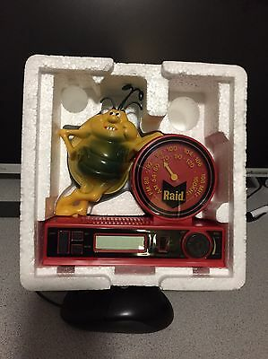 collector name brand RAID BUG CLOCK RADIO