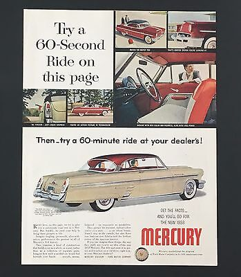 1953 Mercury Monterey Advertisement Original Vintage Color Car Print AD