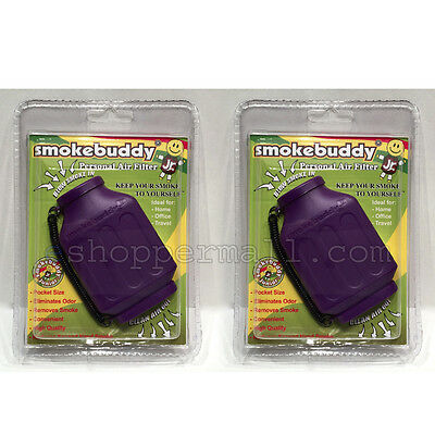 Lot Of 2 Smoke Buddy Junior Jr Personal Air Odor Purifier Cleaner Filter PURPLE
