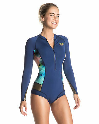 NEW ROXY™  Womens Pop Surf 2mm Long Sleeve Front Zip Springsuit 2017 Womens Surf