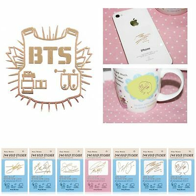 KPOP BTS Bangtan Boys Gold Anti-Radiation Sticker J-HOPE JIMIN For Cell Phone