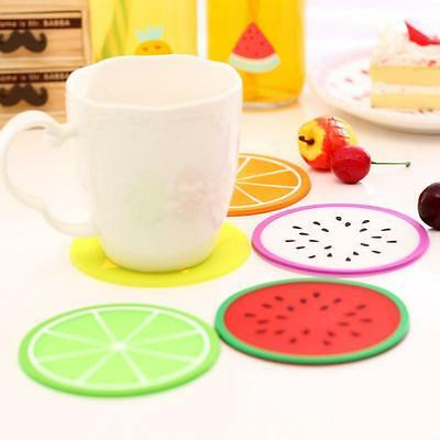 Silicone Placemat Fruit Coasters Cushion Mug Cup Holder Tea Cup Pad Kitchen Mat