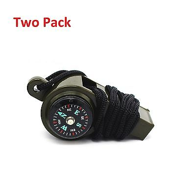 3-1 Whistle Thermometer Compass Emergency Survival Camping Safety paddle Tool