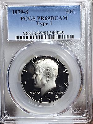 1979 S  TYPE 1  Kennedy  Half  Dollar  Clad  Proof  PCGS  PR69DCAM