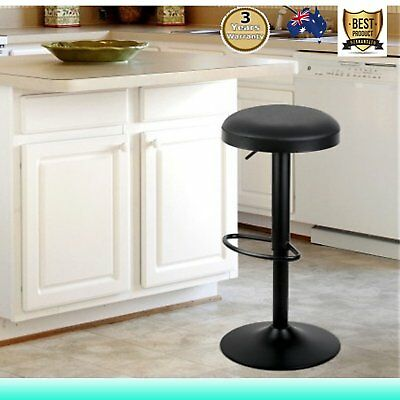 2PCS PU Leather Bar Stool Kitchen Coffee Swivel Barstool Gas Lift Chair Black