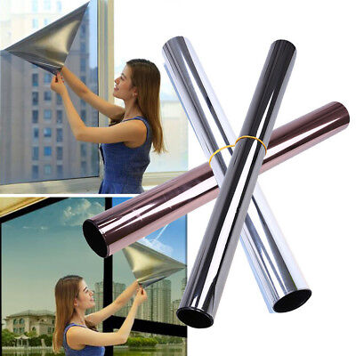 Solar Reflective One Way Mirror Privacy Home & Car Window Sticker Glass Film New