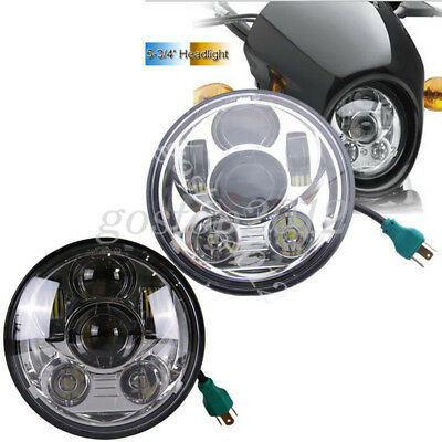 Motorcycle 5-3/4 5.75'' HI Lo Lamp Daymaker Projector LED Headlight For Harley