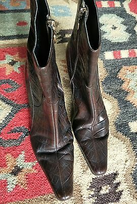 Anna Klein Leather Brown boots US size 8.5