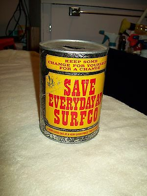 Vintage Surfco Gas station Coin Bank