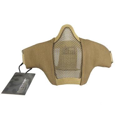 OneTigris 6Inch Tactical Military Foldable Half Face Mesh Mask Airsoft Paintball