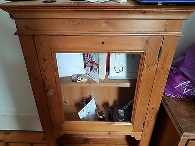 Wall cupboard antique Victorian style solid wood