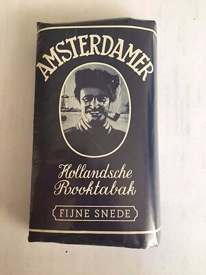 """Ancien paquet de tabac pour pipe """"amsterdamer"""" plein tabacco collection"""