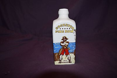 Cockspur Fine Rum Barbados Collectible Porcelain Bottle
