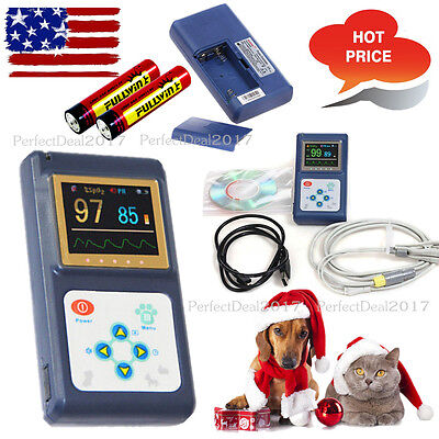 US seller Veterinary Pulse Oximeter Tongue VET probe OLED Spo2 Pulse Rate+SW,FDA