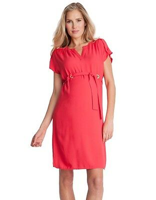 Maternity dress: Seraphine Red Dress size 12