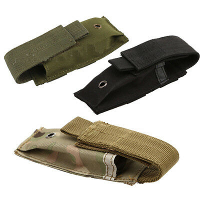 Molle Tactical Single Magazine Pistol Cartridge Clip Pouch Flashlight Holster