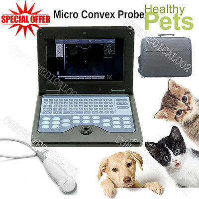 VET Veterinary Laptop Ultrasound Scanner Machine For Dog/Cat/Animal,Micro Convex