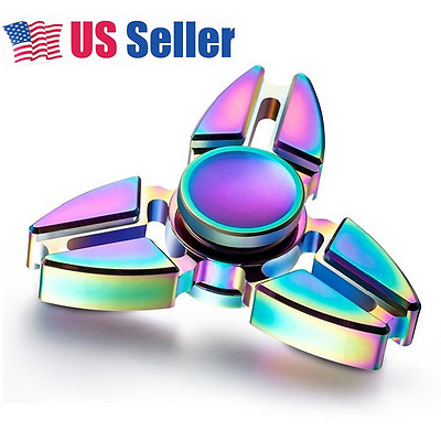 USA! Auction HOT Hand Spinner EDC Aluminum Alloy Focus ADHD Desk Toy Anti Stress