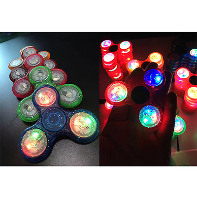 Wholesales 100pcs New Crystal LED Hand Spinner EDC Tri Fidget Toy gift Discount