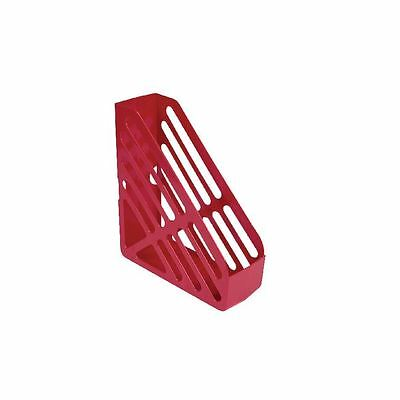 Q-Connect Red Magazine Rack, W100 x D266 x H304mm [KF04064]